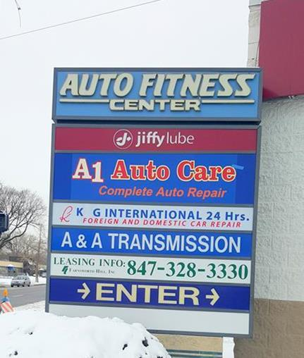 Auto Fitness sign