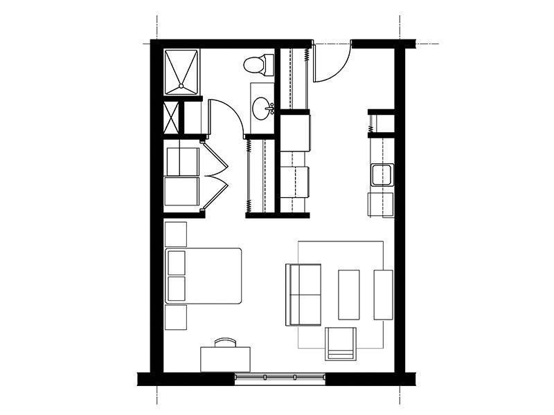 828 Lofts Unit-A floorplan