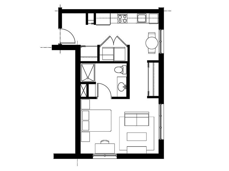828 Lofts Unit-A2 floorplan
