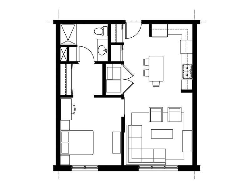 828 Lofts Unit-B floorplan