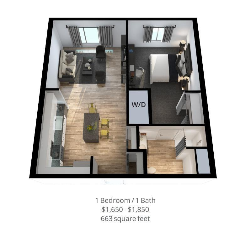 828 Lofts Unit-B-2 render