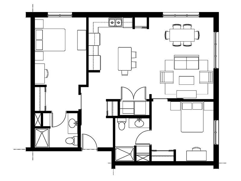828 Lofts Unit-C2 floorplan