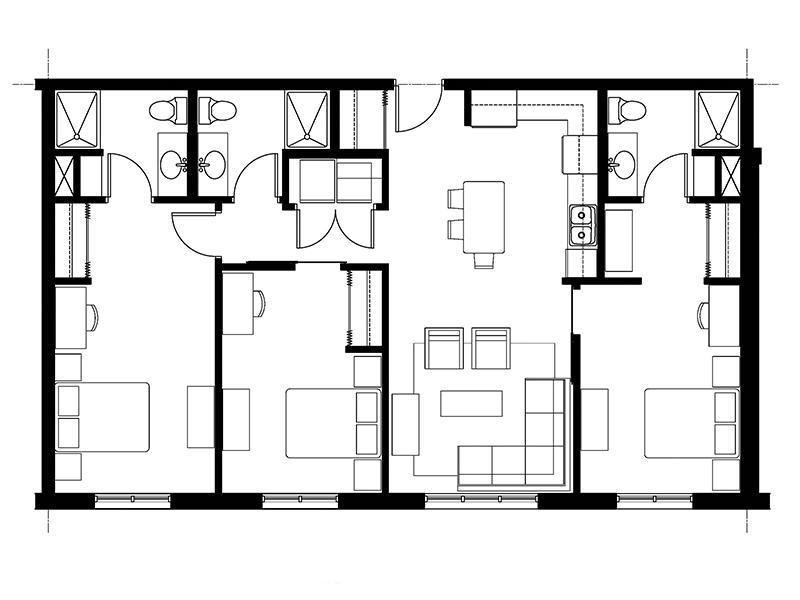 828 Lofts Unit-D floorplan