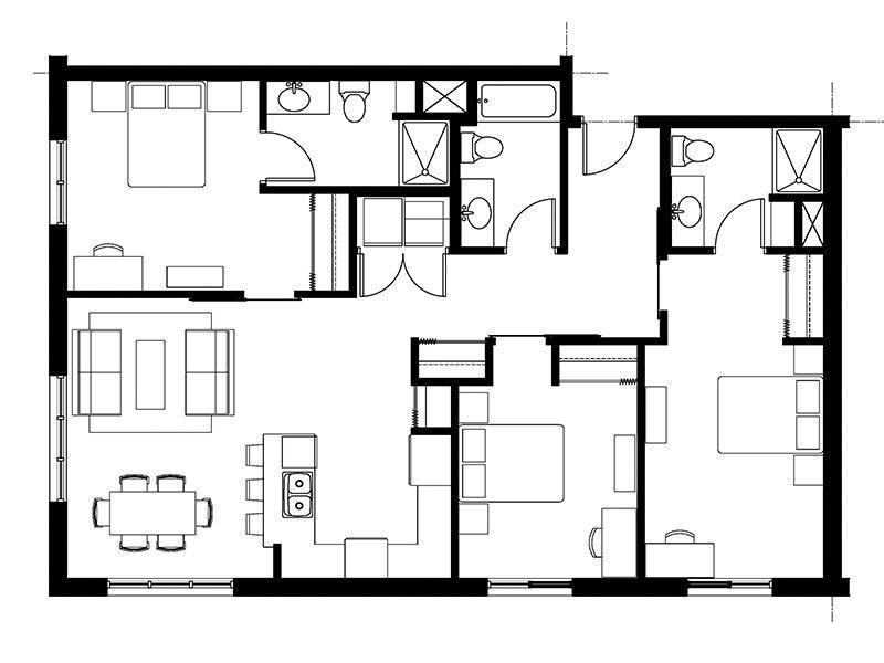 828 Lofts Unit-D2 floorplan