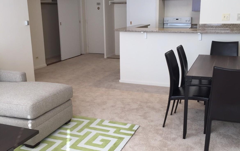 1500 Chicago 1BR living room