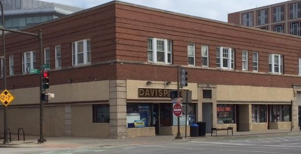 NW corner of Davis and Maple